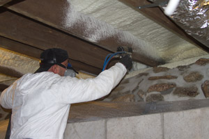 Spray Foam in the crawl space in Clementon